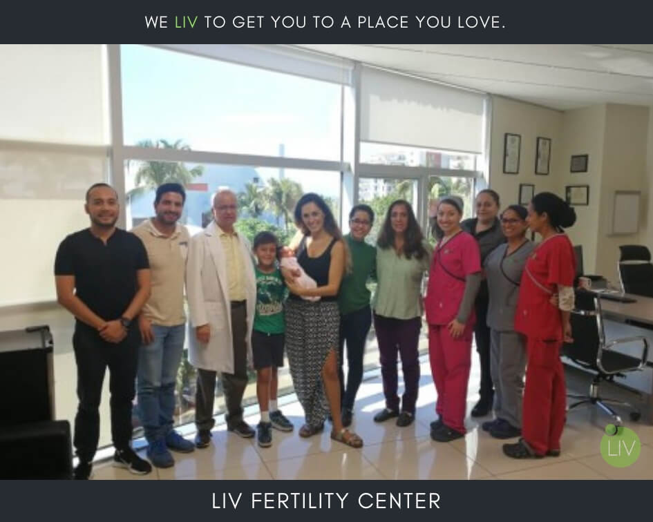 IVF in Mexico - LIV Fertility Center Team Member with Baby