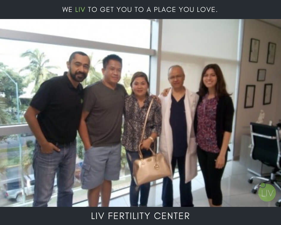 IVF in Mexico - LIV Fertility Center Patient with Team