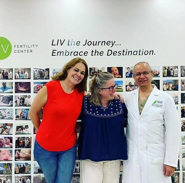 LIV Patient Michelle with Dr. Velez