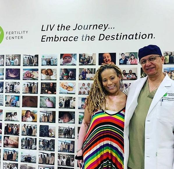 Tanisha with Dr. Velez