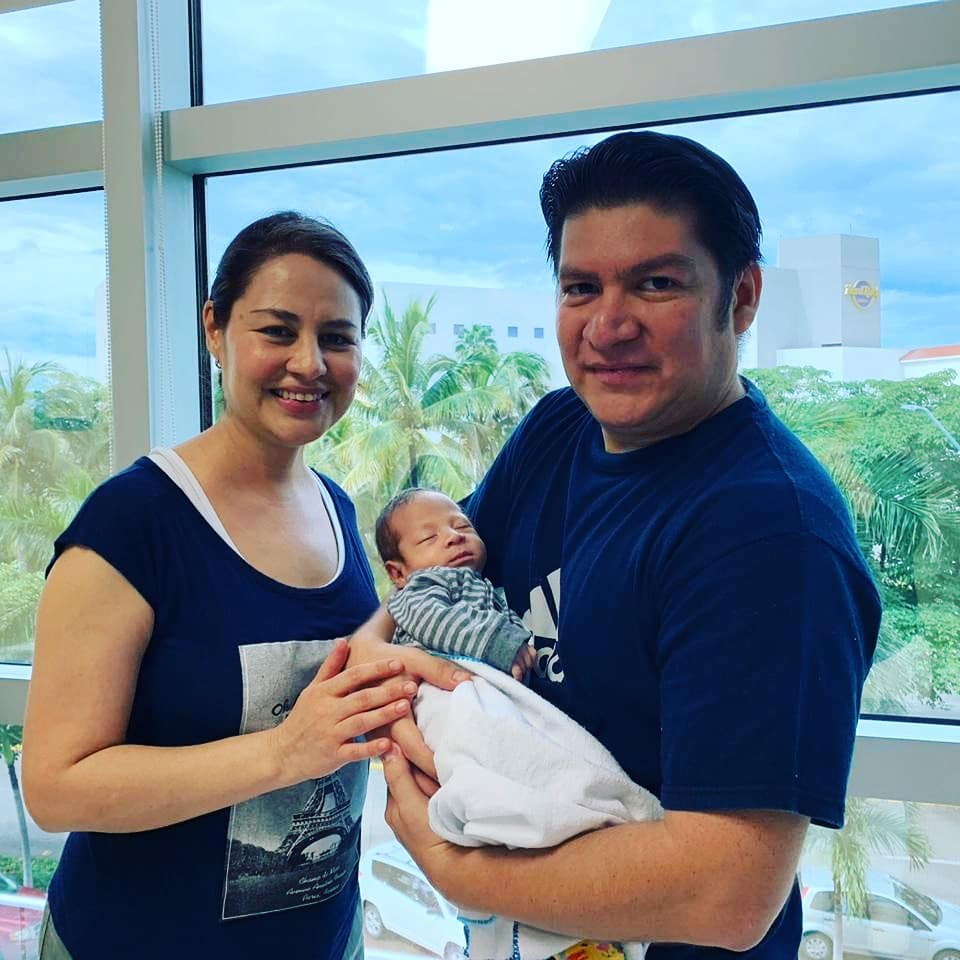 Luis and Mayra with Baby Alan LIV Patients